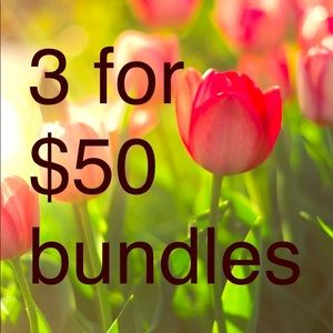 3 for $50 bundles look for ❤️❤️❤️❤️